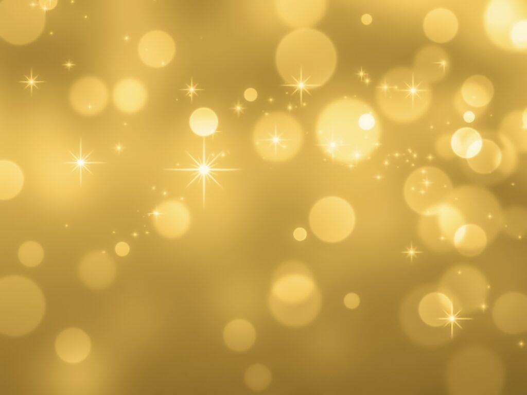 キラキラ金色の光の画像